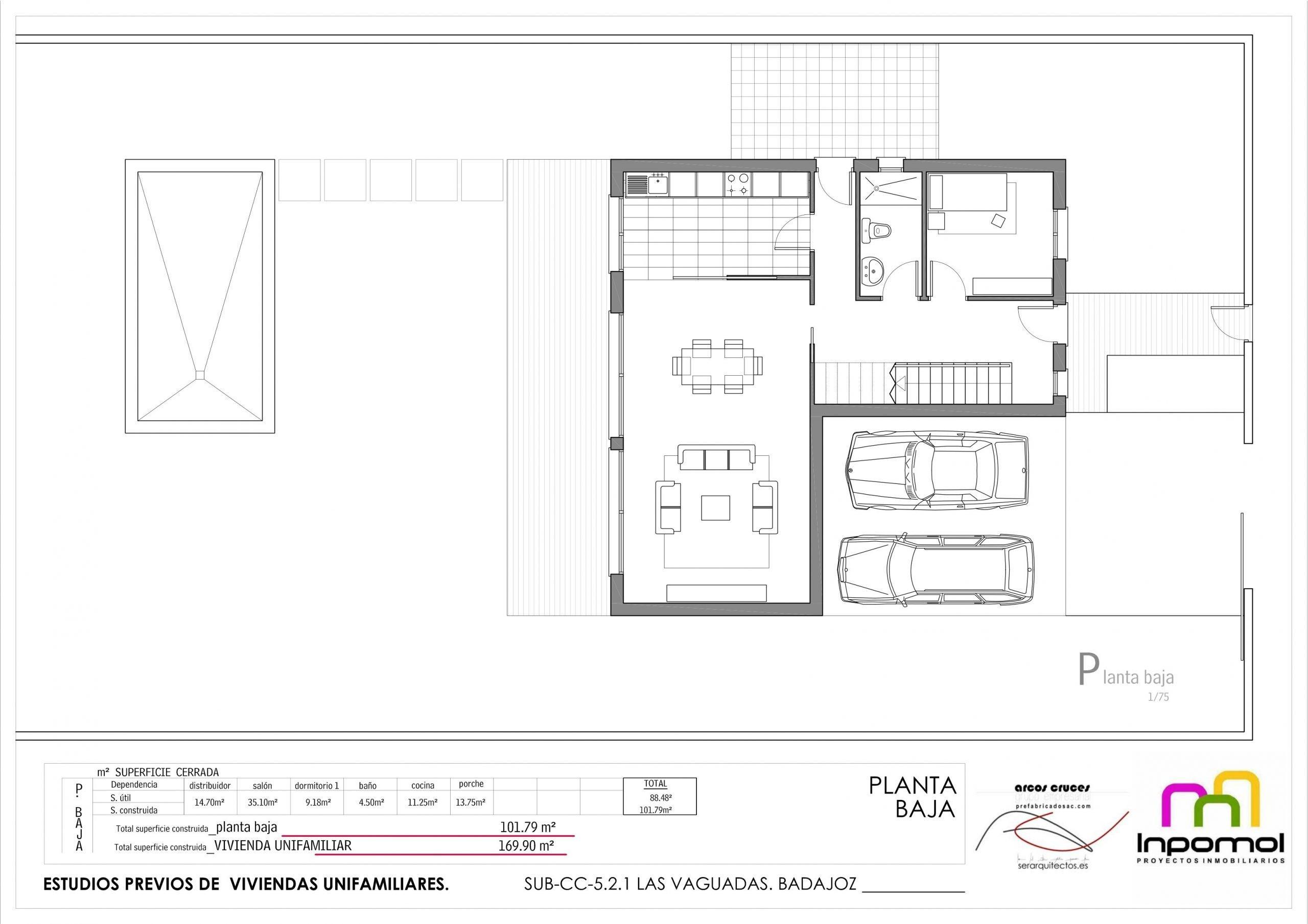 Plano Granada planta baja