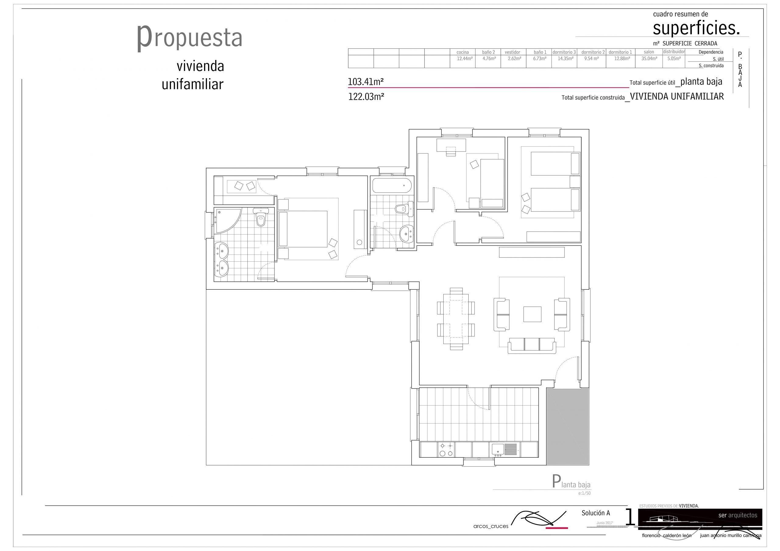 plano casa prefabricada modelo huelva