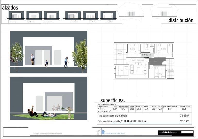 Plano Modelo Valencia 3 habitaciones
