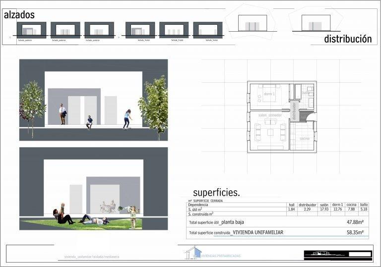 Plano Modelo Valencia 1 habitación