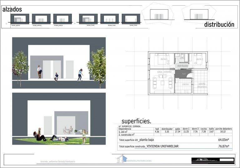 Plano Modelo Valencia 2 habitaciones